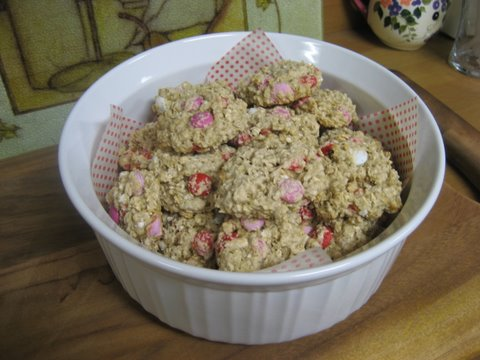 Valentines Day Oatmeal Cookies