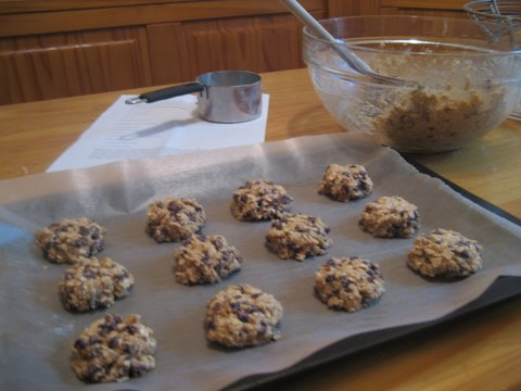 Oatmeal Cookies waiting for the oven