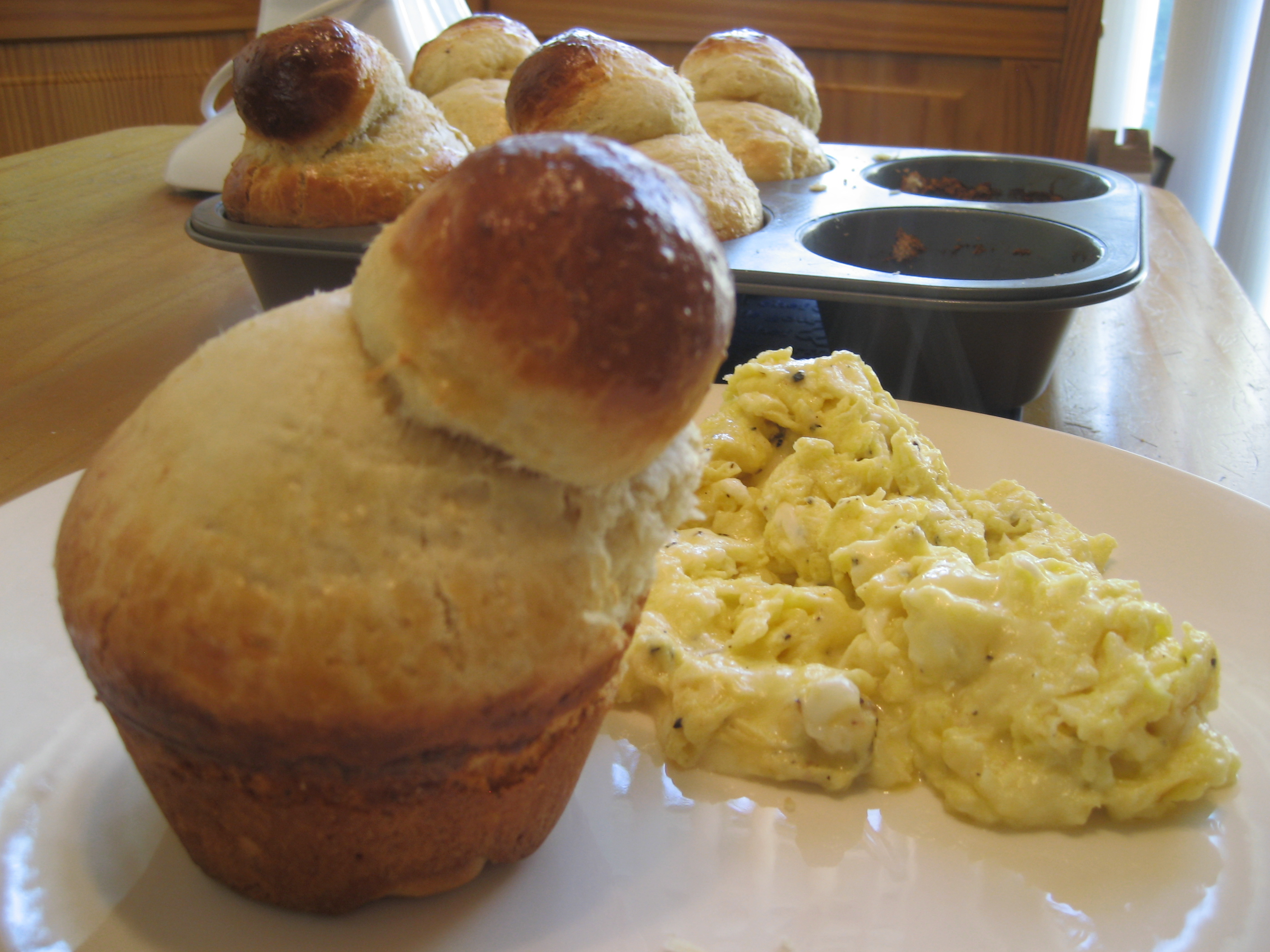 Brioche with eggies